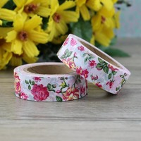 10pcs/lot Beautiful Flower washi tape paper DIY decoration scrapbooking planner masking tape adhesive tapes stickers stationery