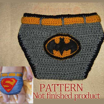 Pattern No 47  Crochet Baby Boy Superman and Batman by Cathyren