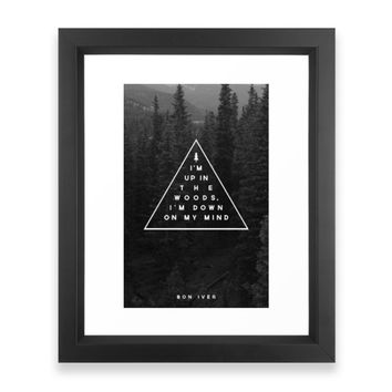 Society6 Woods -- Bon Iver Framed Print
