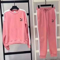 Puma Fashion Sport Casual Long Sleeve Splicing Long Pant Two Piece G-A-PPCLZM-ZDL