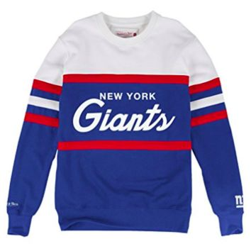 NY Giants Mitchell & Ness NFL Head Coach Premium Crew Sweatshirt