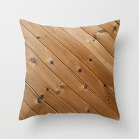 Wood Grain Pillow Cover Rustic Decor Accent Pillow Cushion Cover Shabby Chic Home Decor Brown Knotty Wood Cabin Decor Gift for Him 18x18