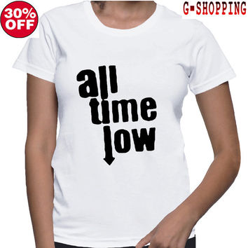 All Time Low  Shirts women Logo2 Tee Shirt All Time Low  Shirt Popular Band  TShirt Long women T Shirts