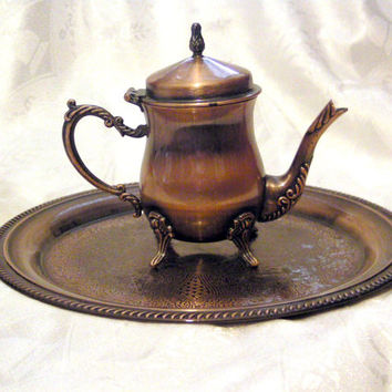 Turkish coffee pot,tea pot with tray