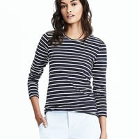 Long-Sleeve Striped Tee | Banana Republic