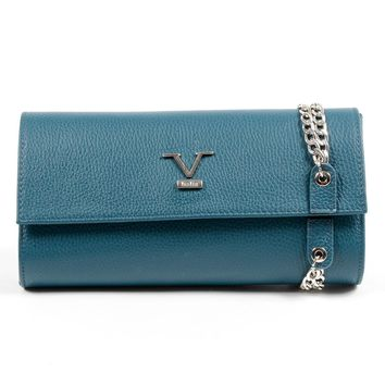V 1969 Italia Womens Handbag Blue ROMA