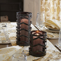 Chevron Hurricane Candle Holder - Small