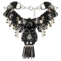 PREMIUM BLACK BEADED COLLAR