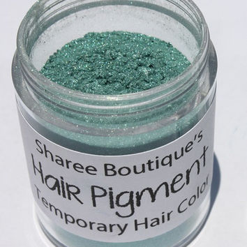 Emerald Green Hair Pigment - Temporary Hair Color - Hair Chalk Alternative - Colored Sparkle Dust