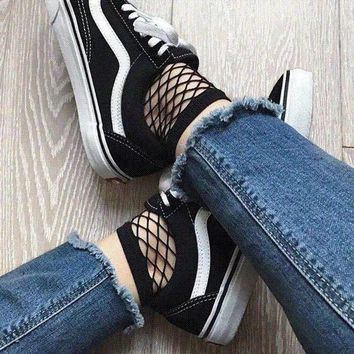 Fashion Black Fishnet Ankle Socks