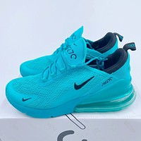 NIKE AIR MAX 270 knitted hollow double mesh back half palm air sneakers shoes
