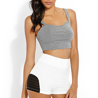 FOREVER 21 Street-Chic Knit Shorts