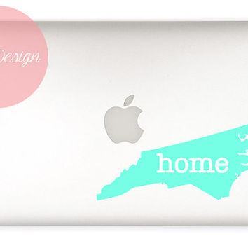 Any State Vinyl Decal Sticker - Georgia, Texas, North Carolina, California, etc - DIY - home is where the heart is - Home State Car Decal