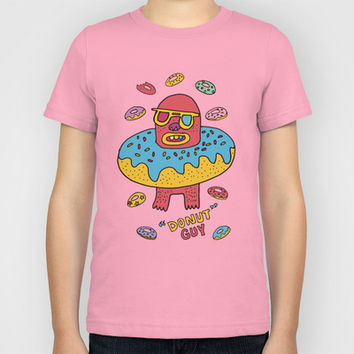 Donut guy Kids T-Shirt by PINT GRAPHICS