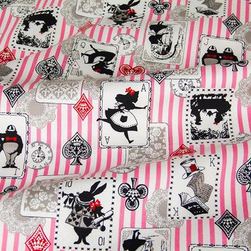 50cm*110cm Japanese Kokka Oxford Cotton Fabric Patchwork Quilting Fabric Alice in Wonderland A