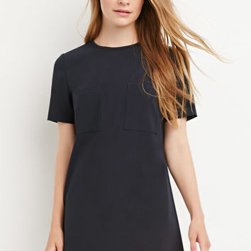 Two-Pocket Shift Dress