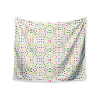 "Empire Ruhl ""Neon Triangles"" Pink Green Wall Tapestry"