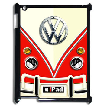 Funny cute VW volkswagen with chrome logo blue, yellow or red Apple ipad 2, ipad 3 or ipad mini case
