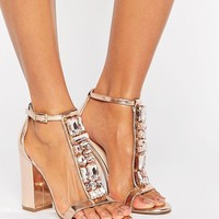 ASOS HIYA Embellished Heeled Sandal at asos.com