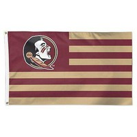 FLORIDA STATE SEMINOLES STARS AND STRIPES 3'X5' DELUXE FLAG BRAND NEW WINCRAFT