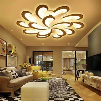 new Style White acrylic ceiling chandelier lighting Modern LED Chandelier For Living Room lustres de sala de chandeliers led