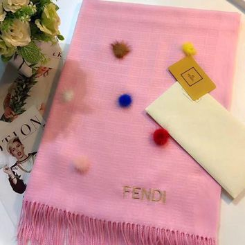 CREYUP0 FENDI Women Fashion Wool Scarf Shawl Scarf Scarves-3