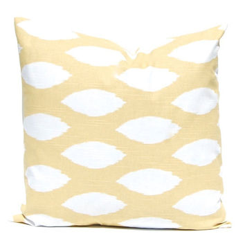 Pillows, Decorative Throw Pillow Cover, Gold PIllows, Home Decor Soft Saffron Gold Cushion Cover Toss Pillow One All Sizes Ikat Pillow