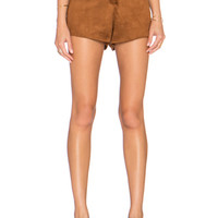 Suede It Up Short in Camel