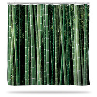 Birch and Bamboo Shower Curtains - Bamboo