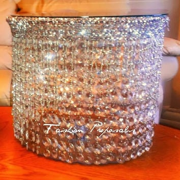SALE  Wedding Cake Stand with Crystals/ Chandelier Acrylic beads Cupcake Stand. Dessert stand.