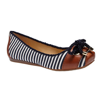 Gianni Bini Sawyer Nautical-Stripe Flats | Dillards