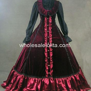 New  Gothic  Dress Ball Gown Prom Steampunk  Dress