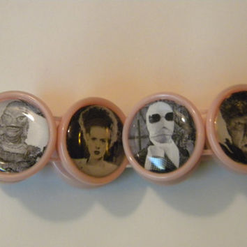 Vintage Horror movie cameo bracelet
