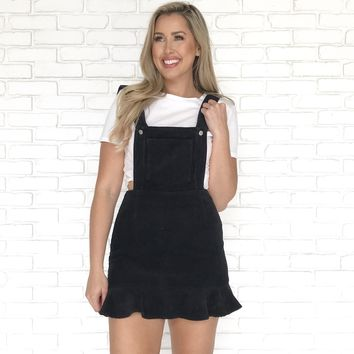 Cute As A Button Corduroy Dress