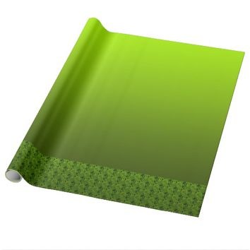 Green Foliage Wrapping Paper