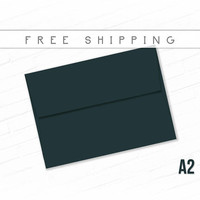 Color Envelopes A2 Size - 25 Pack Timber Green Envelopes High Quality Envelopes Thank You Note Deep Dark Green Free Shipping Bulk Envelopes