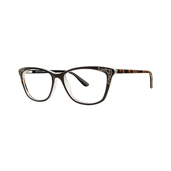 Dana Buchman - Queen Anne 54mm Black Cheetah Eyeglasses / Demo Lenses