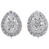 David Webb Diamond Platinum Earrings