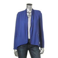 Bar III Womens Crepe Lightweight Open-Front Blazer