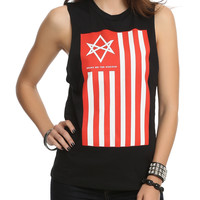 Bring Me The Horizon Flag Muscle Girls Top