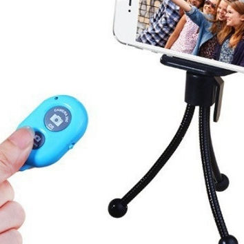 deals] random color extendable selfie stick monopod selfi stick tripod wireless blutooth remote controller for iphone sumsung digital camera = 5988044929