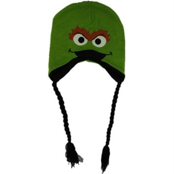 Sesame Road OSCAR THE GROUCH Plush Hat Cosplay EiMO Hat OSCAR THE GROUCH Green Hats Warm and Cute cap Cosplay OSCAR THE GROUCH
