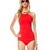 Michael Kors Collection Romanesque High Neck Tankini