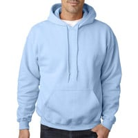Gildan 18500 Heavy Blend Classic Fit Adult Hooded Sweatshirt- Light Blue