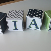 Wooden Name Blocks, Baby Name Blocks, Nursery, Baby Boy, Baby, Boy, Baby Shower, Baby Gift, Newborn, Name Blocks, Blocks, Gift