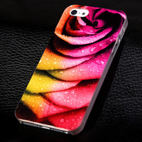 Rose and dew phone case for iphone 5 5s SE  + Nice gift box 072702