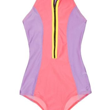 Point Break Surf Suit - Guava/Lilac/Bolt