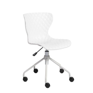 Pruitt Swivel Office Chair WHITE