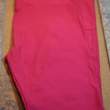 Adult Leggings, One Size Hot Pink solid