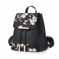 Fashion Printing Backpack Women Drawstring School Bags for girls Casual Leather Bagpack High Quality mochila feminina 2017